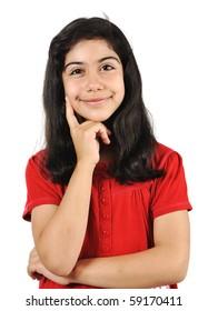 Nice schoolgirl with black hair