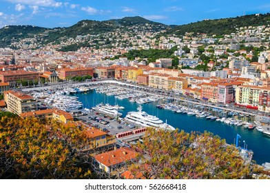 Nice seen from Mt Boron. Nice, French Riviera, France.