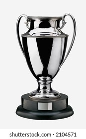 a nice silver  trophy isolated on white