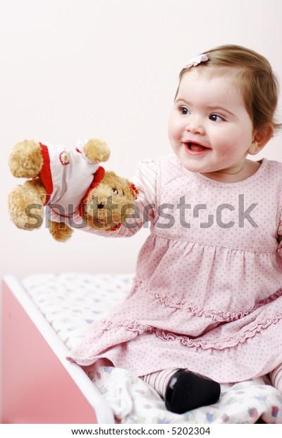 Nice small girl smiling