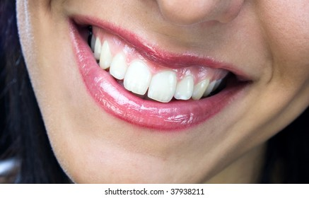 Nice smile with healthy white teeth