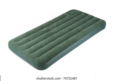 The nice and soft air bed for camping and outdoor picnic, the image isolated on white
