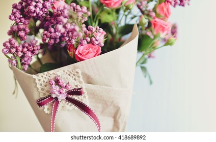Nice Spring Bouquet. Beautiful Flower Background