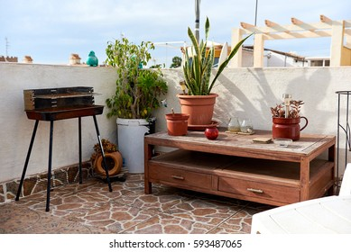 Nice summer terrace with barbecue
