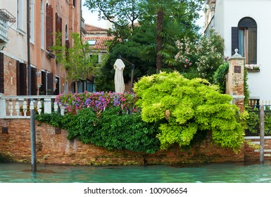 Nice summer venetian canal view, Venice, Italy