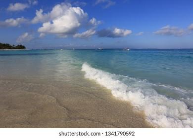 nice sunny morning on ocean shore