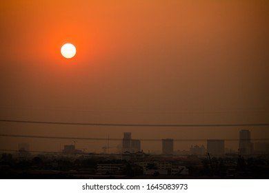 Nice sunset in the bangkok city on evening.
