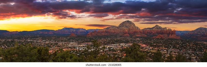Nice Sunset Image of Sedona; Arizona.