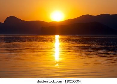 Nice sunset over sea
