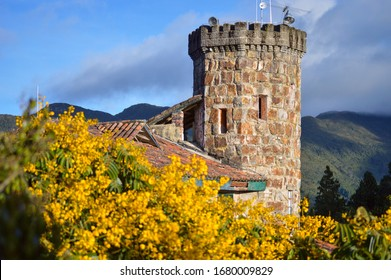 The nice tower on the highlands of Monserrate, Bogotá, Colombia
