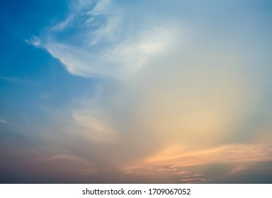 Nice vibrant twilight sky with cloudscape