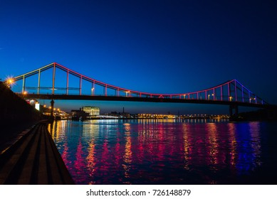 Nice viev of Bridge on Dnipro Kiev Ukraine