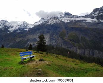 Nice view along the way from Kandersteg to Oeschinensee, Switzerland