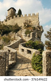 Nice view of the castle in San Marino