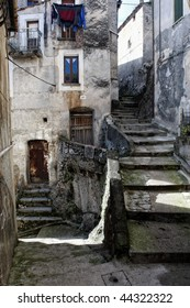 nice view of classic traditional village in calabria,italy