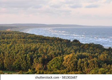 Nice view of the Curonian Spit and the Baltic Sea.