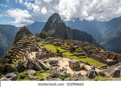 Nice view of Machu Picchu, Peru, South America