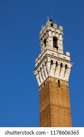 Nice view of main square tower of Siena, Toscana, Italy