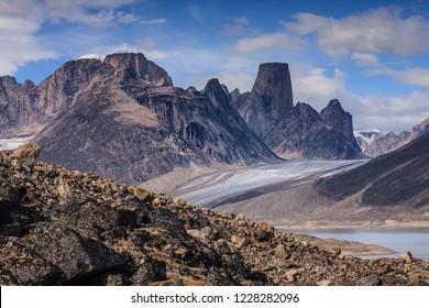 Nice view of Mount Asgard, Auyuittuq National Park, Nunavut