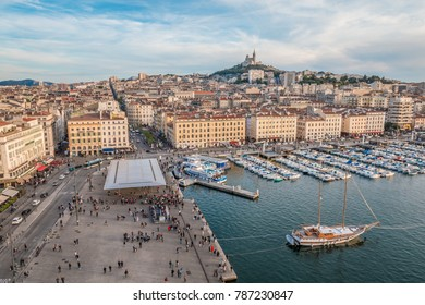Nice view of Old port of Marseille