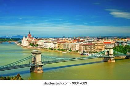 Nice view on Budapest, Hungary