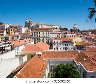 A nice view out over the city Lisabon, Portugal