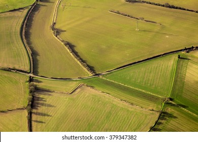 Nice view from a plane, fields of England