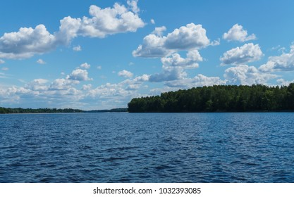 Nice view of the river Daugava River near Koknese, in Latvia. July 2017.