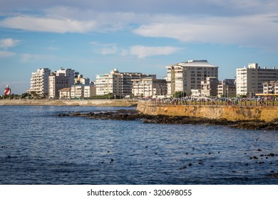 Nice view of the Sea Point area in Cape Town, South Africa