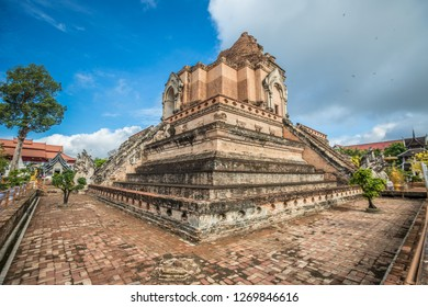 Nice view of Wat Chedi Luang Chaing Mai in Thailand