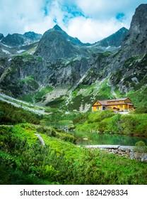 Nice view of Zelene pleso in High Tatras