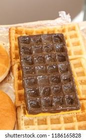 nice wafles with chocolate