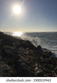 A nice walk at the beach today.