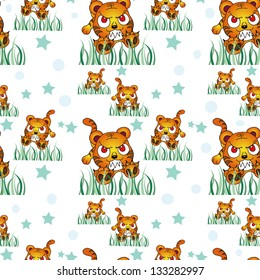 nice wallpaper , wrapper, fabric ,vector pattern