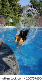 Nice water effect with her hair in Hotel Viking in Golden Sands near Varna (Bulgaria)