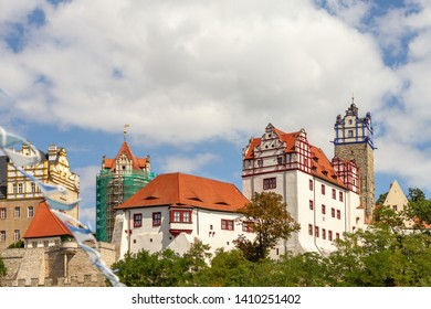 Nice weather with a blue sky above the castle of Bernburg