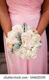 Nice wedding bouquet in bridesmaid's hand