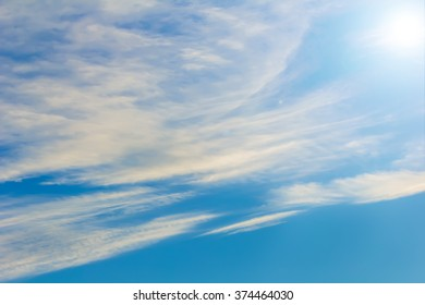 Nice white clouds blue sky at clear day