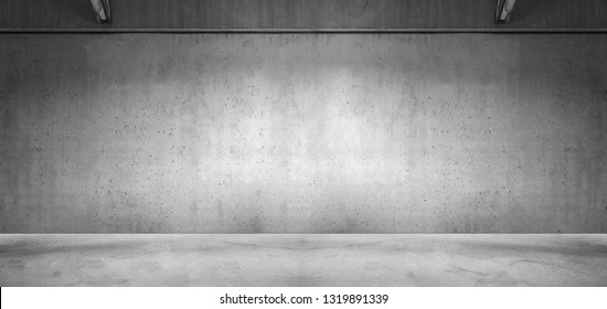 Nice Wide Panoramic Concrete Wall Background for Product Placement Design