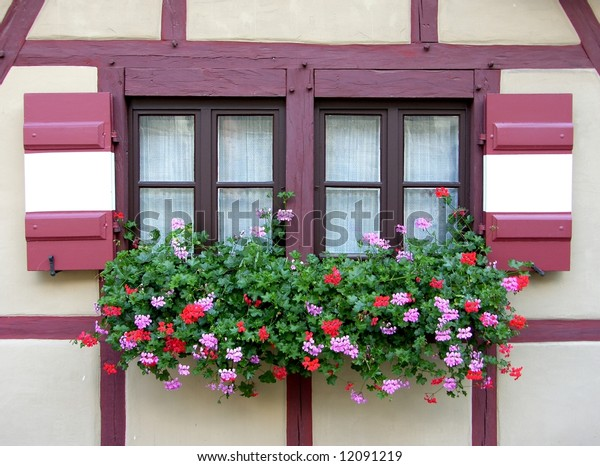 nice window on a german house