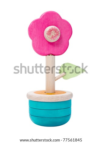 Nice Wooden Toy Flower Stock Photo (Edit Now) 77561845