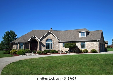 Nicely landscaped home.