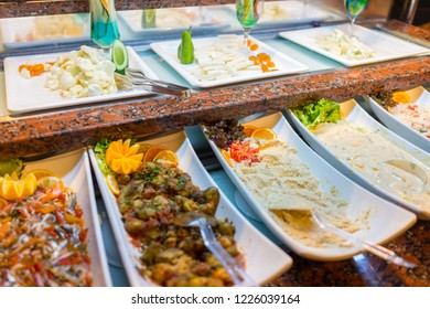 Nicely ordered food in restaurant