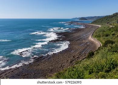 Nichinan coastline from Phoenix, viewpoint in Miyazaki, Kyushu, Japan.