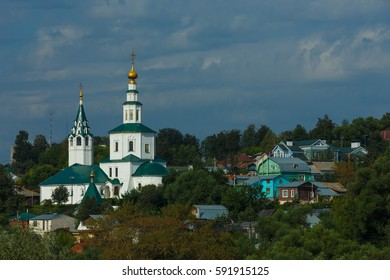 Nicholas Galeyskaya church with bell tower in Vladimir, Russia.