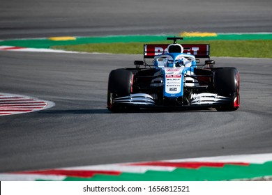 Nicholas Latifi, Canada competes for ROKiT Williams Racing at the F1 Winter Testing for the 2020 season at the Circuit de Barcelona-Catalunya, Spain
