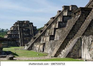 Nichos piramide in Tajín  archaeological area