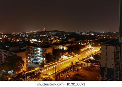 Nicht view in Malacca city Malaysia