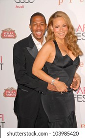 Nick Cannon and Mariah Carey  at the AFI Fest Premiere of 'Precious,' Chinese Theater, Hollywood, CA. 11-01-09