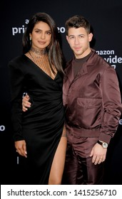 Nick Jonas and Priyanka Chopra at the premiere of Amazon Prime Video's 'Chasing Happiness' held at the Regency Bruin Theatre in Westwood, USA on June 3, 2019.